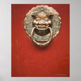 Dragon door knocker poster