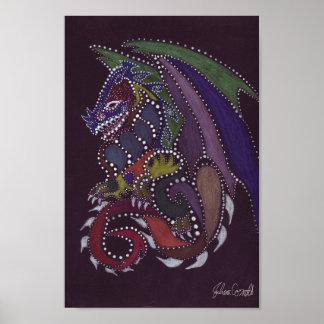 Dragon Dot Painting Poster