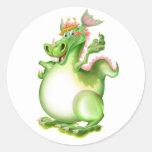Dragón, Drachen, dragão, dragón, Pegatina Redonda