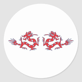 Dragon dragee ONS Classic Round Sticker