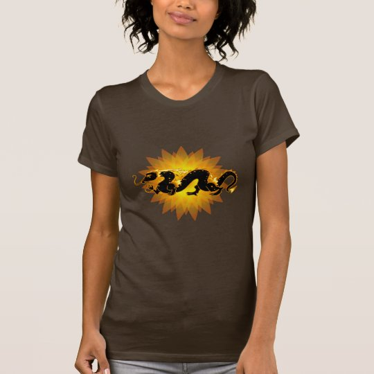 Dragon Dragon Black and Gold T-Shirt