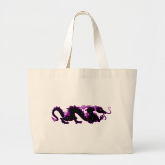 Dragon Dragon Black and Purple Canvas Bags