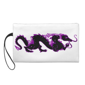 Dragon Dragon Black and Purple Wristlets