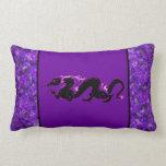 Dragon Dragon Black and Purple Pillows