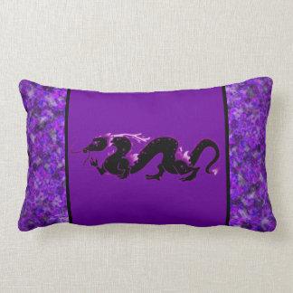 Dragon Dragon Black and Purple Throw Pillow