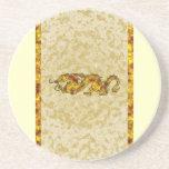 Dragon Dragon Cutout of Crystal Sandstone Coaster