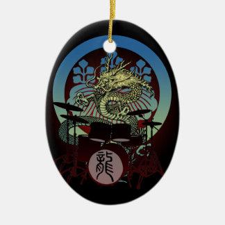 Dragon Drum 02 Ceramic Ornament