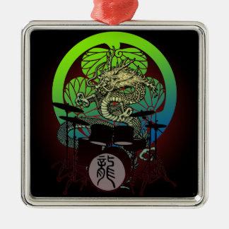 Dragon Drum 03 Metal Ornament