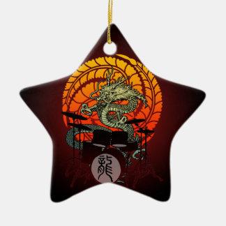 Dragon Drum 04 Ceramic Ornament