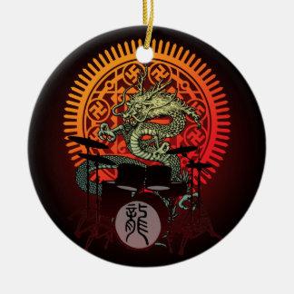 Dragon Drum 05 Ceramic Ornament