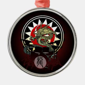 Dragon Drum 06 Metal Ornament