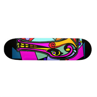 Dragon Duck | black background Skateboard