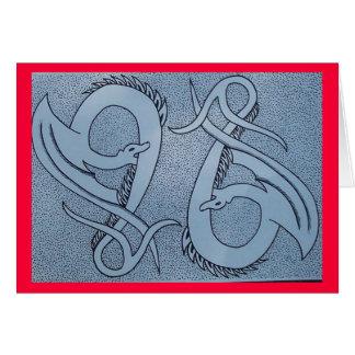 dragon duo greeting card