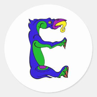 dragon E Stickers