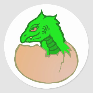 Dragon egg dragon egg classic round sticker