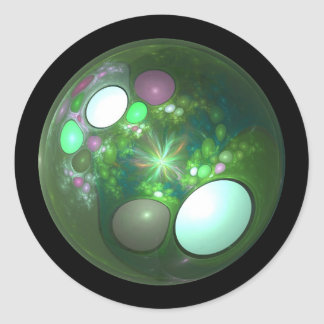 Dragon Egg Fractal Design Classic Round Sticker