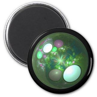 Dragon Egg Fractal Design 2 Inch Round Magnet