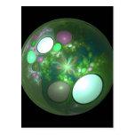 Dragon Egg Fractal Design Postcard