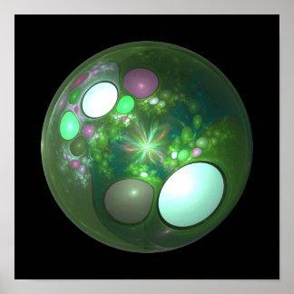 Dragon Egg Fractal Design Posters