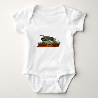 Dragón el dormir en una roca body para bebé
