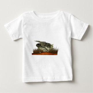 Dragón el dormir en una roca playera de bebé