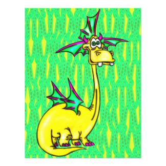 """Dragón elegante folleto 8.5"""" x 11"""""""