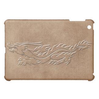 Dragon - Embossed look with burnt edges iPad Mini Cases