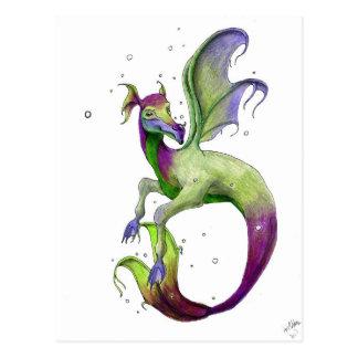 Dragón en abril Robbins del mar Tarjetas Postales