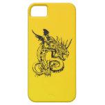 Dragón en amarillo iPhone 5 Case-Mate coberturas