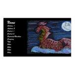 Dragón en colores pastel tarjeta de visita