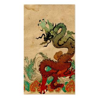 Dragón en el agua tarjetas de visita