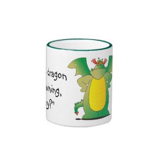 Dragón en el entrenamiento tazas