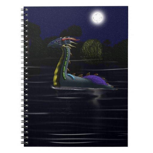Dragón en el lago libretas