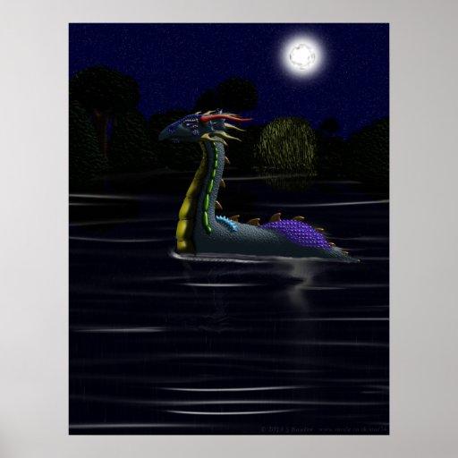 Dragón en el lago poster