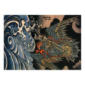 Dragón en el mar tarjetas de visita grandes