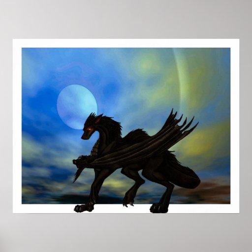 Dragón en el vagabundeo posters
