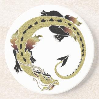 Dragón en espiral del cacao posavasos manualidades