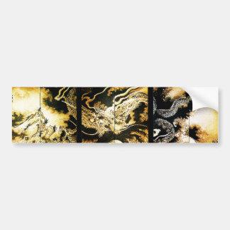 Dragón en la bella arte del japonés de Hiroshige Pegatina Para Auto