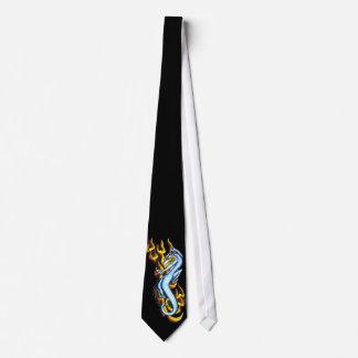 Dragón en la llama tribal por RyuNeko-Artz.com Corbatas Personalizadas