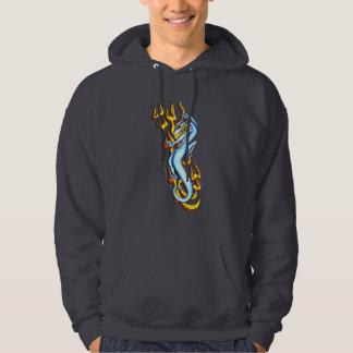 Dragón en la llama tribal por RyuNeko-Artz.com Sudaderas