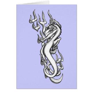 Dragón en la llama tribal por RyuNeko-Artz.com Tarjeta De Felicitación