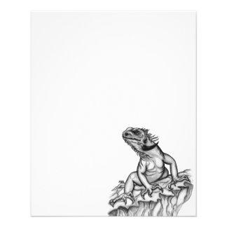 Dragón en la roca tarjetas publicitarias