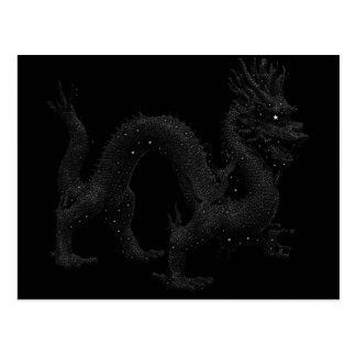 Dragón en las estrellas tarjeta postal