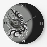 Dragón en Tattoostyle Relojes De Pared