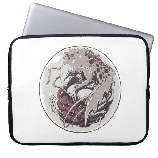 Dragón en una manga de mármol del ordenador portát fundas portátiles