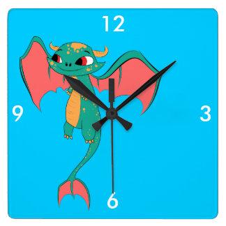 Dragón en vuelo, criatura mágica relojes