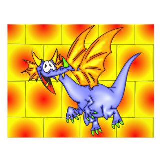 """Dragón en vuelo folleto 8.5"""" x 11"""""""