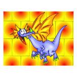 Dragón en vuelo tarjetas informativas