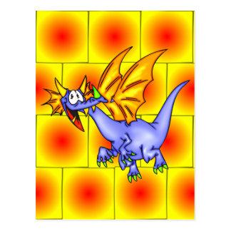 Dragón en vuelo tarjetas postales