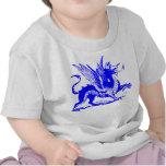 Dragon Engraving - Blue T-shirts